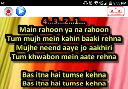 screenshot of SingerZone Hindi and Bollywood Karaoke version 1.4