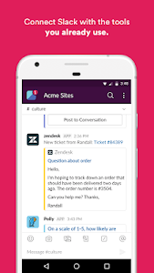 screenshot of Slack version Varies with device