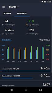 screenshot of Runtastic Sleep Better: Sleep Cycle & Smart Alarm version Varies with device
