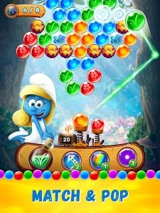 screenshot of Smurfs Bubble Shooter Story version 2.01.16339
