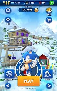 screenshot of Sonic Dash version 4.0.1.Go