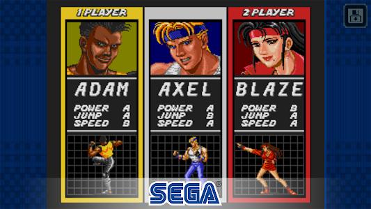 screenshot of Streets of Rage Classic version 1.1.2