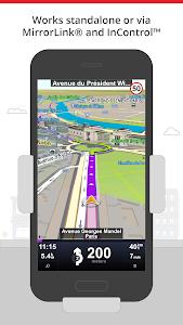 screenshot of Sygic Car Navigation version 15.5.0