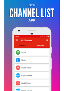 screenshot of TV Channels for Airtel Digital TV - Airtel DTH TV version 3.0.8