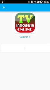 screenshot of TV Indonesia Online version 1.0