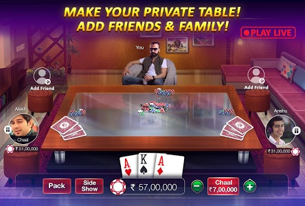 screenshot of Teen Patti Gold - With Poker & Rummy version 4.04