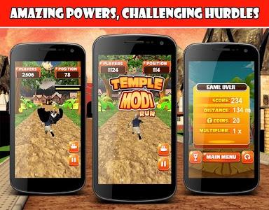 screenshot of Temple Modi Run version 1.10