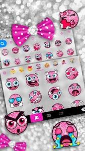 Download Twinkle Minny Bowknot Keyboard Theme 6.0 APK