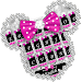 Download Twinkle Minny Bowknot Keyboard Theme 6.0 APK