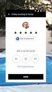 screenshot of Uber version Varies with device