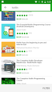 screenshot of Udemy Online Courses version 4.0.1