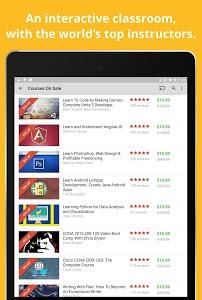 screenshot of Udemy Online Courses version 2.1