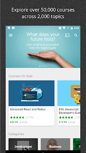 screenshot of Udemy Online Courses version 4.0.2