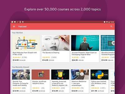 screenshot of Udemy - Online Courses version 4.2.0