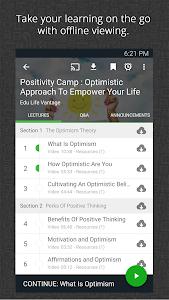 screenshot of Udemy Online Courses version 3.0.2