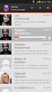 screenshot of Visual Voicemail by MetroPCS version Varies with device