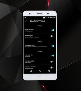 screenshot of WA Black Transparan 2019 version 1.0
