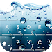 Download 3D Blue Water Screen Droplets Keyboard Theme 6.8.17.2018 APK