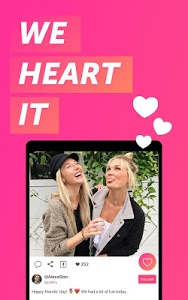 screenshot of We Heart It version Varies with device