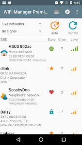 screenshot of WiFi Manager version Varies with device