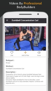 screenshot of Pro Gym Workout (Gym Workouts & Fitness) version 4.3