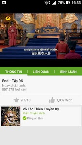 screenshot of Zing TV version 2.1.1