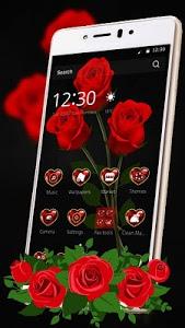 screenshot of red rose flower keyboard theme version 1.1.2