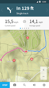 screenshot of Komoot — Cycling, Hiking & Mountain Biking Maps version Varies with device