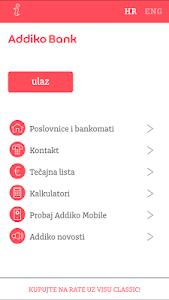 screenshot of Addiko Mobile Croatia version 3.0.0
