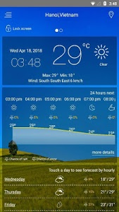 screenshot of weather forecast version 7.52